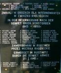 Gedenktafel in Rudzinitz bei Gleiwitz